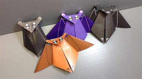 How To Make Bats Out Of Paper - origami bat print your own paper