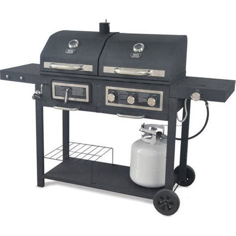 Backyard Grill 667 Sq In Gas Charcoal Grill Walmart Com Backyard Grill Charcoal Grill