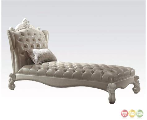 button tufted chaise versailles traditional button tufted vintage grey leather