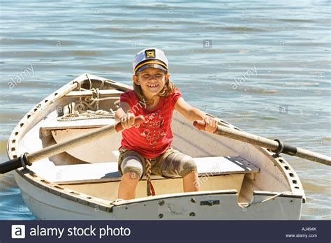 row boat llc young girl in row boat stock photo 14616834 alamy