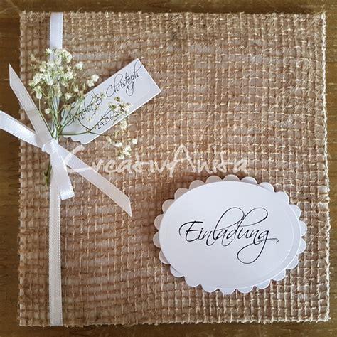 Hochzeitseinladung Jute by Einladungskarte Hochzeit Natur Mit Jute Creativanita