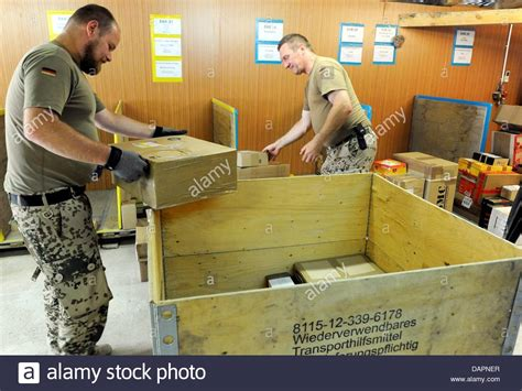 Army Post Office by A German Armed Forces Sort Packages At The Army Post