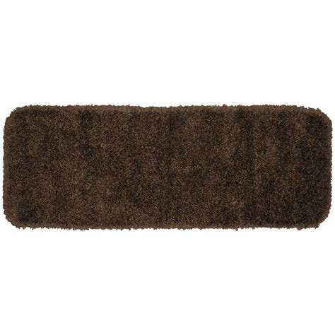 30 X 60 Bath Rug Garland Rug Serendipity Chocolate 22 In X 60 In Washable Bathroom Accent Rug Ser 2260 14 The