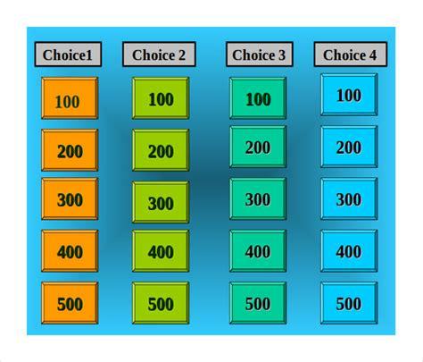 Jeopardy Template Free Powerpoint   BestSellerBookDB