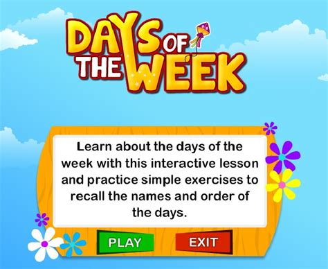 all the days of week your corner days of the week