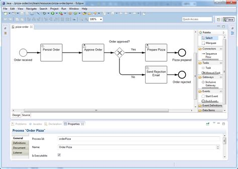 create bpmn diagram in eclipse developing process applications with javaee 6 camunda