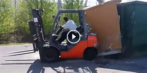 mad fun  work    crazy guy transforms  forklift   ultimate demolition