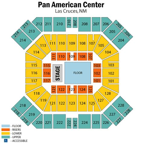 pan am center seating map brad paisley february 17 tickets las cruces pan american