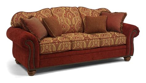 flexsteel bexley leather sofa flexsteel bexley traditional sofa with nail head trim