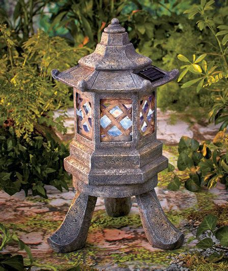Pagoda Garden Decor Solar Lighted Hexagon Pagoda Garden Statue Yard Sculpture Light Outdoor Decor Ebay