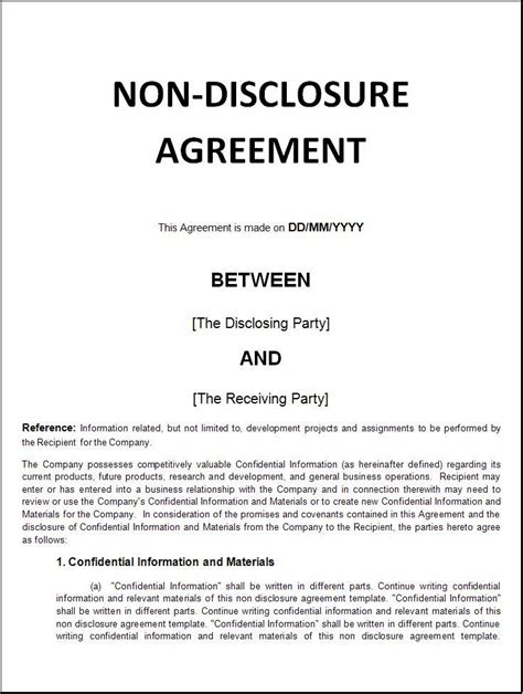 Non Disclosure Agreement Letter Template How Can A Employee Be Bound By A Nda Pertaining To Work Done In A Capacity Foia