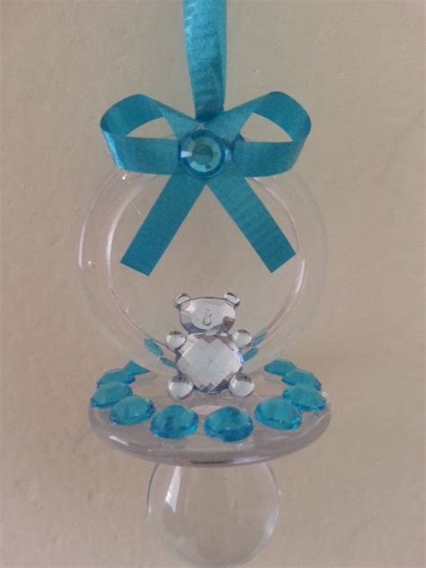 Fr Baby Blue Chocker Sabrina 10 blue clear baby shower pacifier necklace with rhinestones don t sa