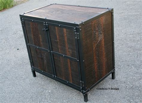 Industrial Bar Cabinet Mid Century Modern Nightstand End Table Vintage Industrial Liquor Cabinet R Midcentury