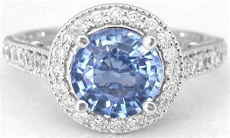 Light Sapphire Ceylon ceylon light blue sapphire and ring in 14k white