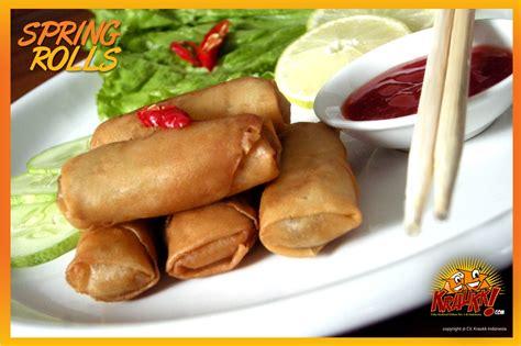 Seafood Beku Cumi Kecil produk springrolls frozen food kraukk lauk praktis