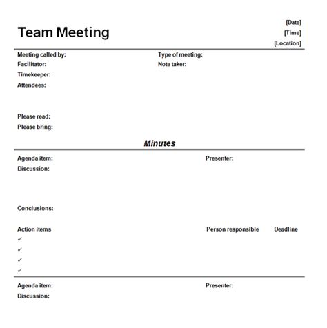 Staff Meeting Email Template