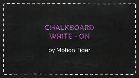 handwriting template after effects chalkboard writing template after effects templates