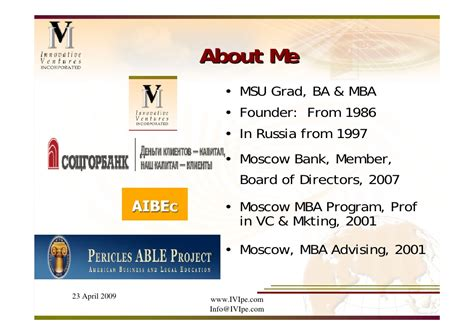 Mba Moscow Bank by Nastas Lecture Graduate School Of Business Michgan State