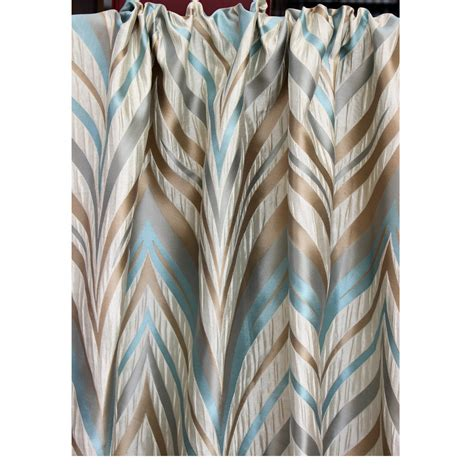 beige and teal curtains beige teal dome grommet unlined curtain in textured jacquard