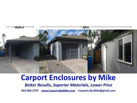 carport enclosures  mike reviews phoenix az angies