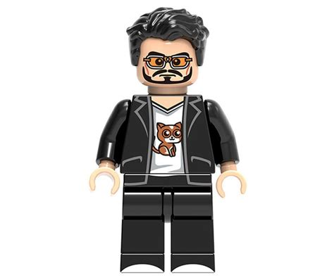 Minifigure Iron Lego Model marvel sets iron tony stark minifigures lego compatible