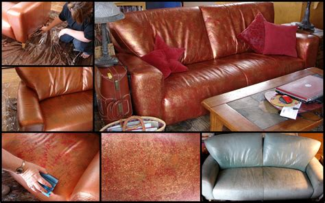 paint on leather couch altered by the sea june 2012
