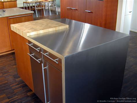 metal island kitchen brooks custom portfolio of kitchens countertops