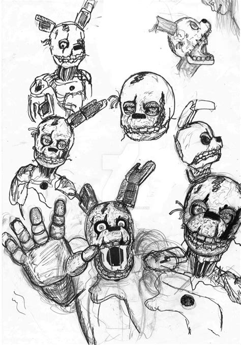 springtrap doodles by mirage epoque on deviantart