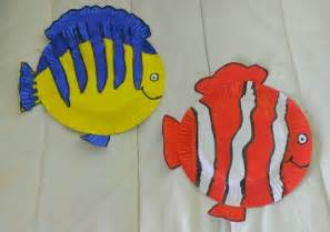 painted paper plate fish paper pinterest paper