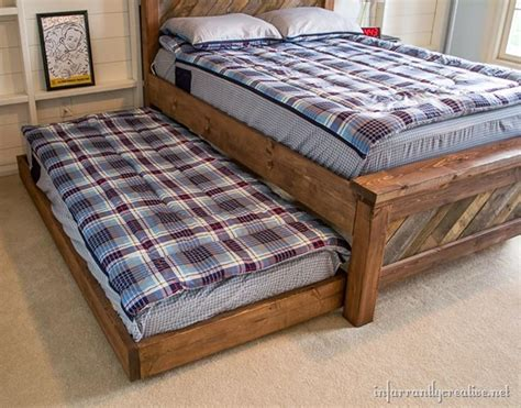 Used Trundle Bed by Diy Rolling Trundle Bed Plans Infarrantly Creative