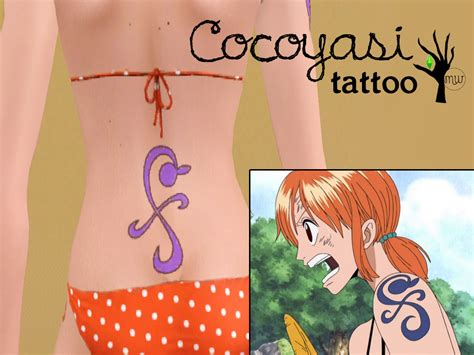 nami tattoo mod the sims straw hat nami set