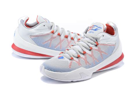 chris paul 8 playoffs shoes white blue