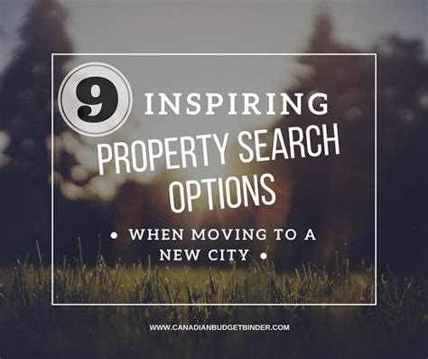 Canadian Property Records 9 Inspiring Property Search Options When Moving To A New City Canadian Budget Binder