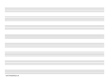printable lined music paper printable music paper with eight staves on letter sized