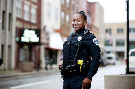 first female police officer city s first black female police officer on patrol with