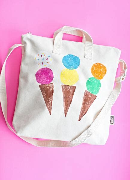 diy iron on ice cream tutorial by sweet threads clothing best diy round up decorating a blank canvas tote bag
