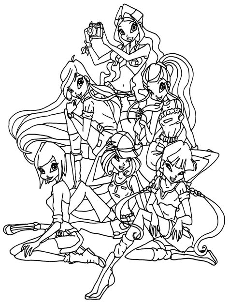 download coloring pages winx club coloring pages games