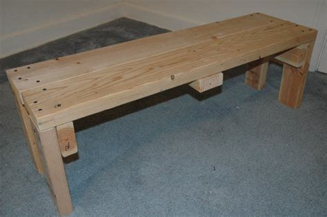 how to build wooden benches wooden weightlifting bench do it yourself project
