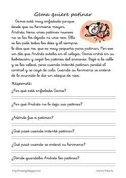 lecturas con preguntas inferenciales para primaria 25 best ideas about lectura comprensiva on pinterest
