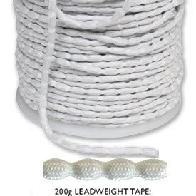 sewing hem weights lead weight tape 200g to sew into curtain and blind hems