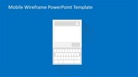 mobile wireframe powerpoint template slidemodel