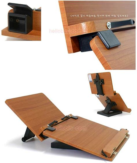 Double Book Stand Reading Desk Portable Bookmark Holder Book Stand Desk