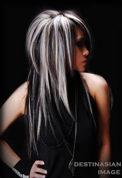 black hair with grey streaks gray streaks in dark hair short hairstyle 2013