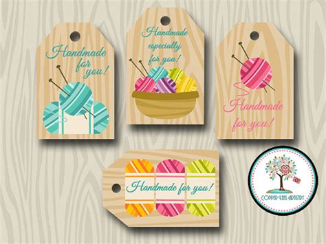 Knitting Labels Handmade - handmade for you tags knit gift tags favor tags yarn