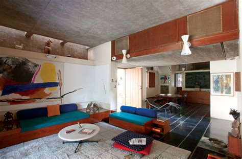 bv doshis home kamala house is beautifully simplistic