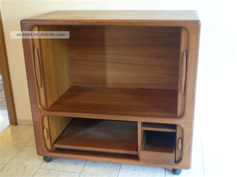 tv schrank holz design 60er 70er dyrlund teak holz highboard tv