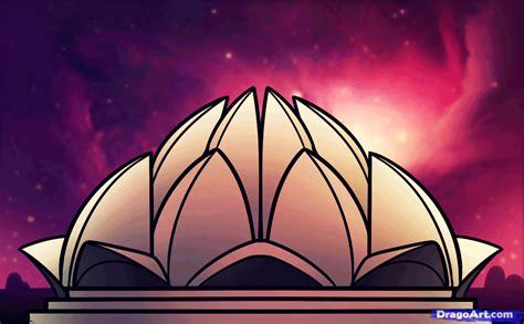 draw  lotus temple lotus temple step  step