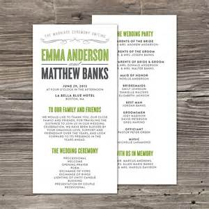 Sample wedding program wedding day pinterest