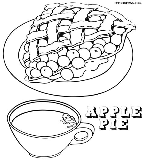 coloring page apple pie apple pie coloring page coloring home