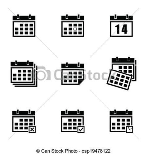 Calendario Negro Ilustraciones De Vectores De Calendario Vector Negro